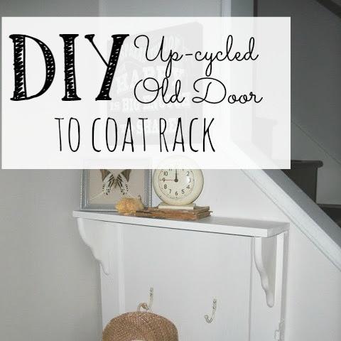 DIY Up-cycled Old Door to Coat Rack