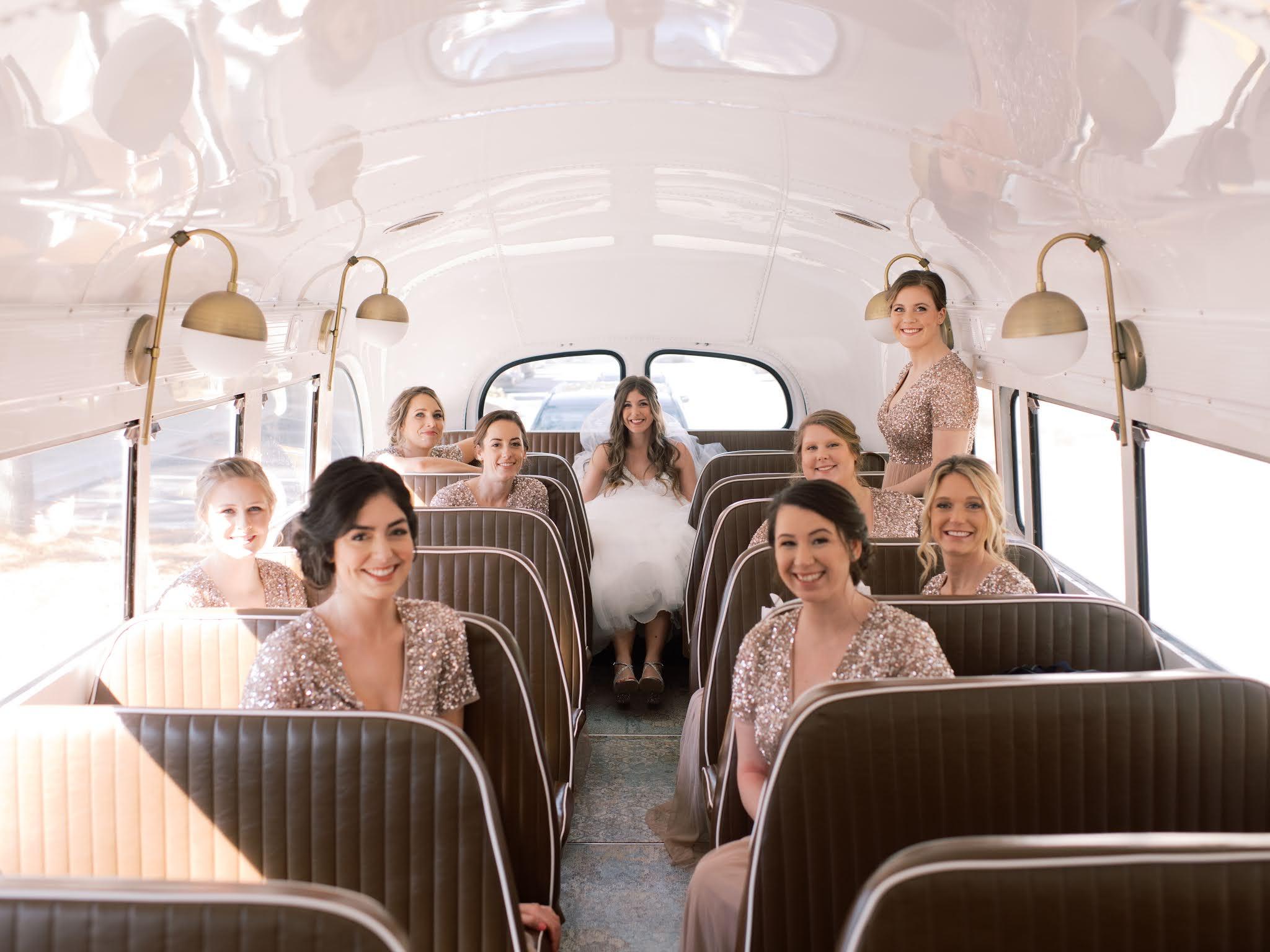 Wedding Transportation Charleston Vintage Bus - Chasing Cinderella