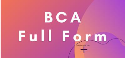 BCA full meaning