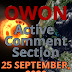 Active Comment Section |  25 September - current