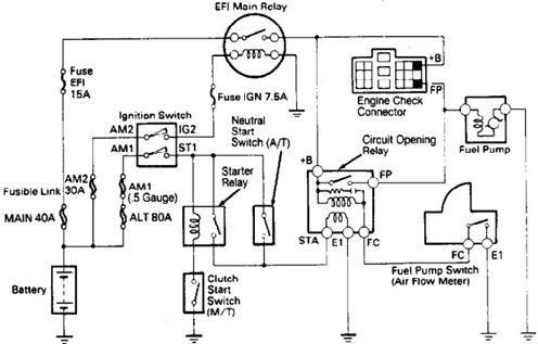 Wiring Diagrams  Toyota 4Runner 1989 Fuel Pump Wiring Diagrams
