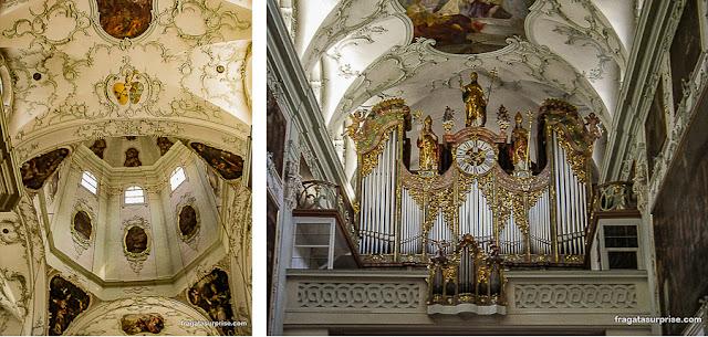 Órgão tocado por Mozart na Abadia de São Pedro, Salzburgo