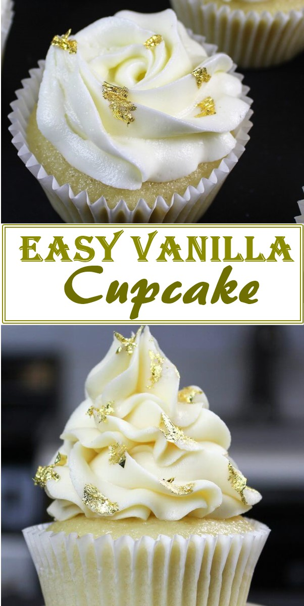 Easy Vanilla Cupcake Recipe #cupcakerecipes