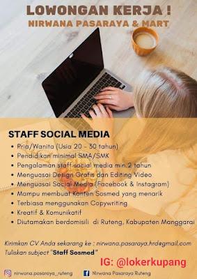 Lowongan Kerja Nirwana Pasaraya Ruteng Sebagai Staff Media Sosial