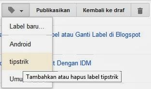 Cara Menghapus Label di Blogspot