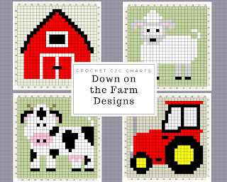http://www.thecraftyco.com/down-on-the-farm-crochet-charts/