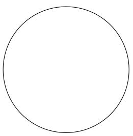 Como encontrar o centro de uma circunferência - passo 1