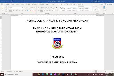 RPT BAHASA MELAYU TINGKATAN 4 KSSM 2020