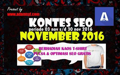 Gelar Kontes SEO November 2016