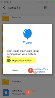 Cara Update Flyme OS Pada Meizu M2