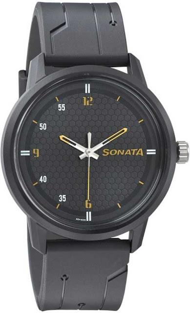 Sonata 77085PP03 Volt Analog Watch