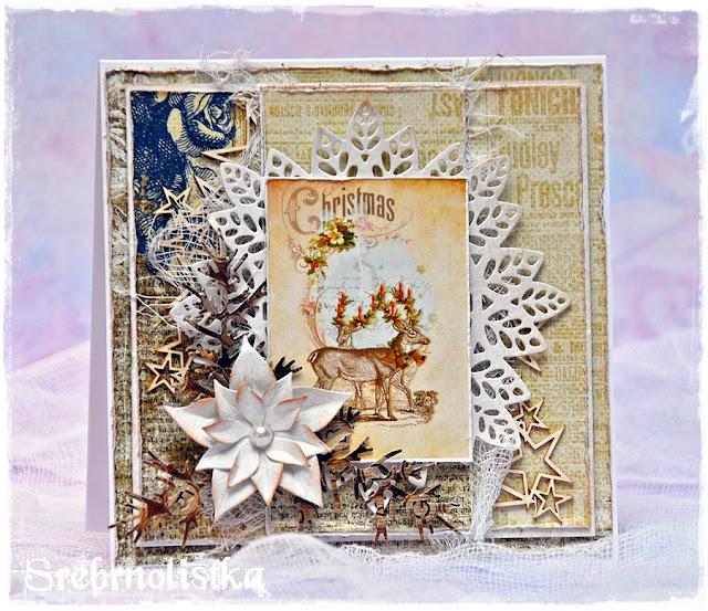 Kartka świąteczna w stylu vintage