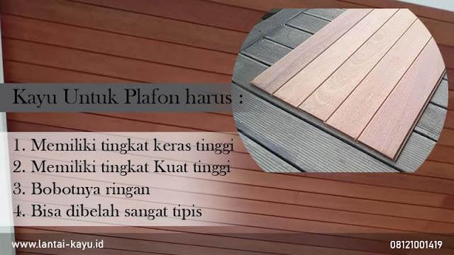 Plafon kayu Lambersering : Harga, Plus minus dan Inspirasi pemasangnnya