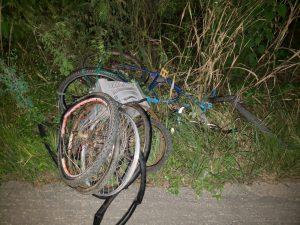 Acidente entre moto e bicicleta deixa idoso ferido na BR 104, em Nova Floresta