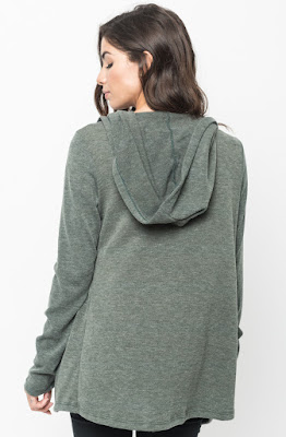 Buy Now Olive Hooded Cardigan Online $10 -@caralase.com