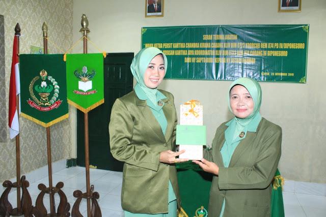 Ny Lilik Minarso Pimpin Sertijab Wakil Ketua Persit KCK Cab XLIV Di Klaten