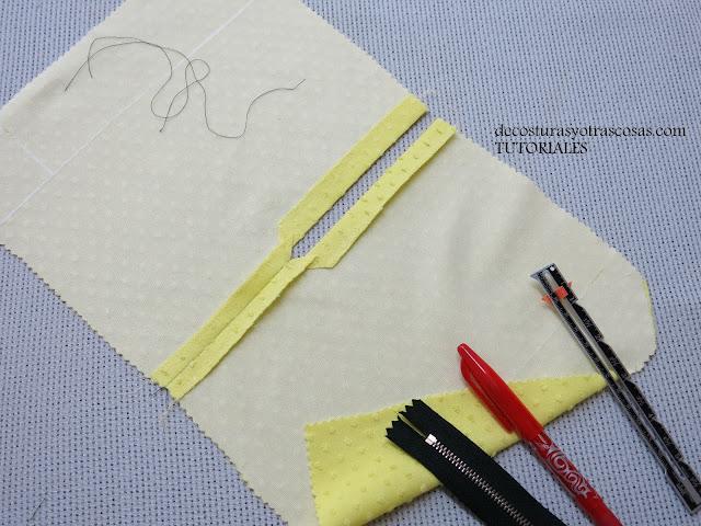 como hacer abertura cuadrada para zipper a la vista