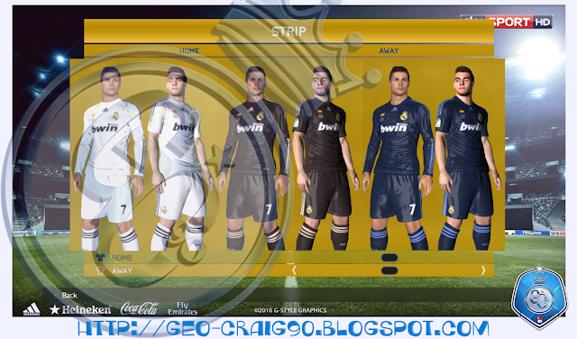 PES 2017 Real Madrid Kit Season 2009-10 HD by Geo_Craig90