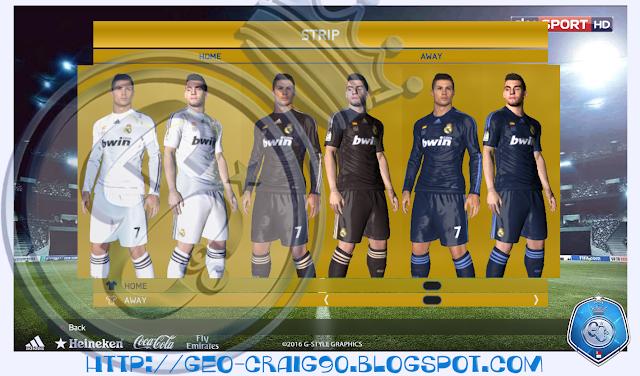 PES 2017 Real Madrid Kit Season 2009-10 HD by Geo_Craig90