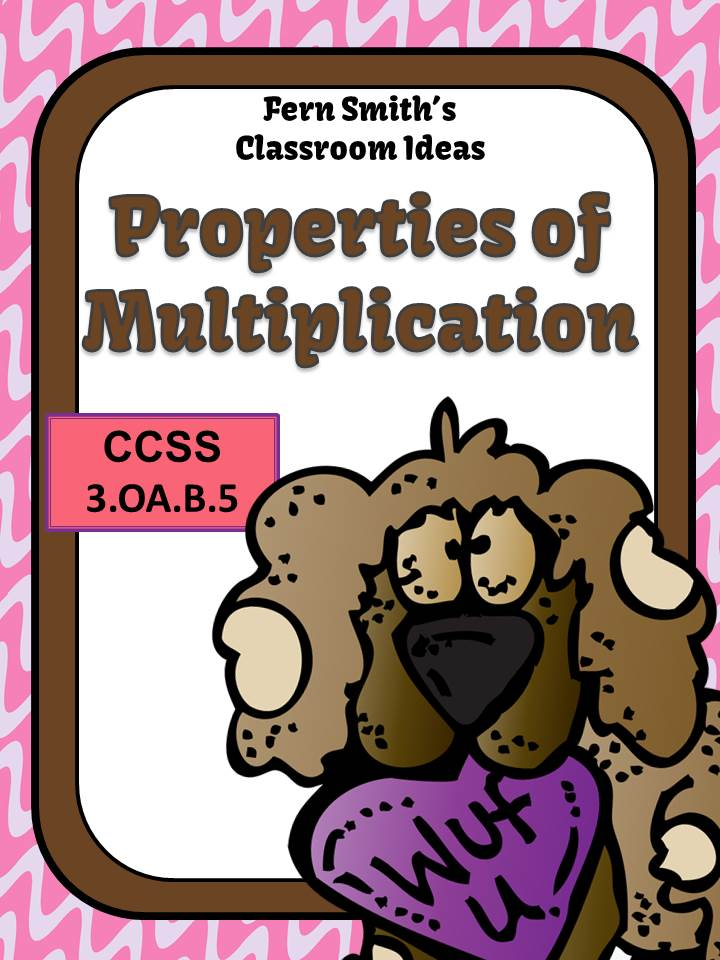 Fern Smith's Valentines Day Properties of Multiplication Mega Math Pack