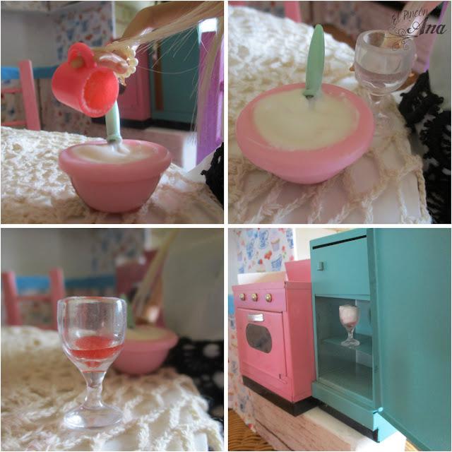 Espuma de limón con mermelada de fresa