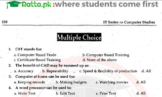 ICS Computer Chapter 4 MCQs Solved - 1st Year/11th class