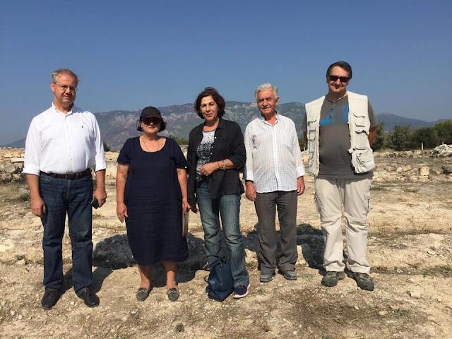 Η αντιπεριφερειάρχης Πελοποννήσου  Αθηνά Κόρκα επισκέφθηκε τη Ρωμαϊκή Έπαυλη στο Λουτράκι
