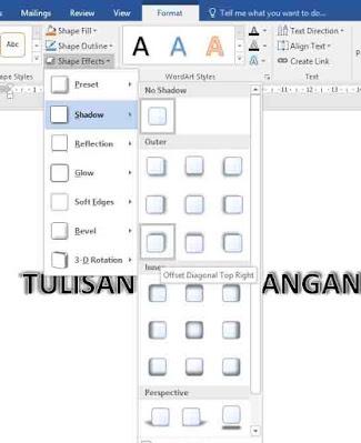 cara membuat background tulisan transparan di word