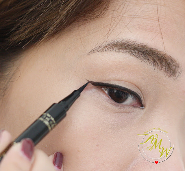 a photo of how to apply Guerlain L'ART DU TRAIT Precision Felt Eyeliner Review