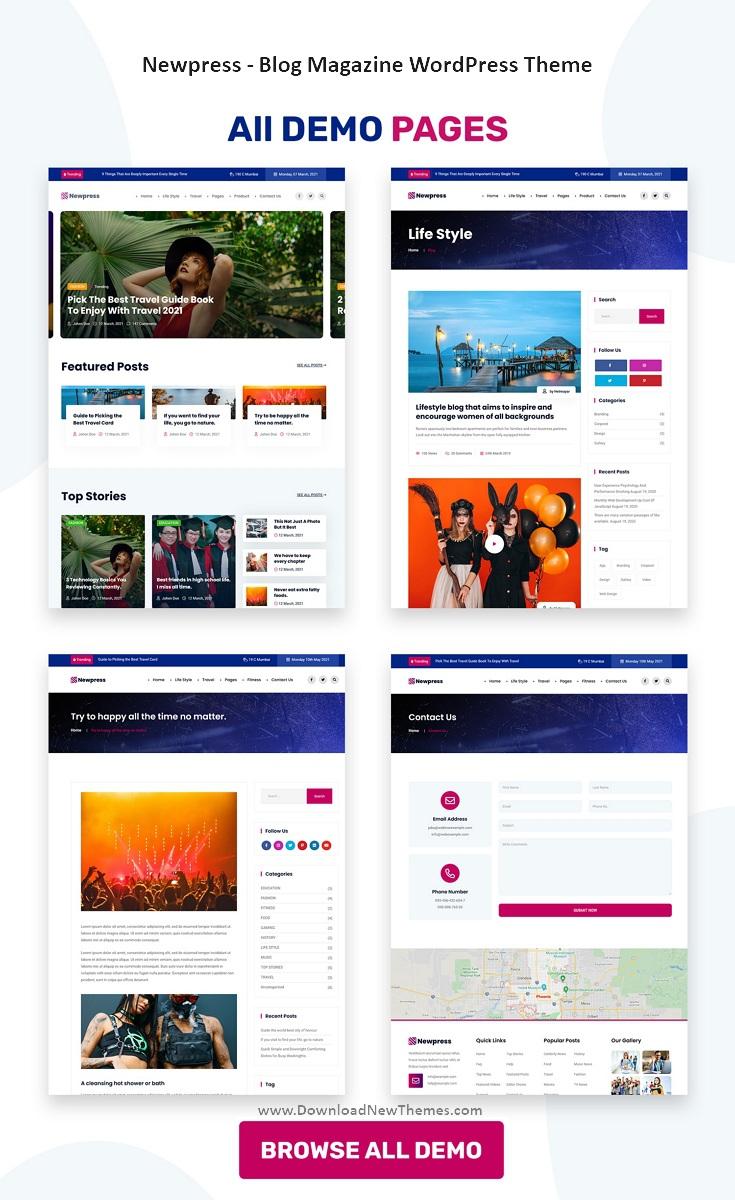 Blog Magazine WordPress Theme