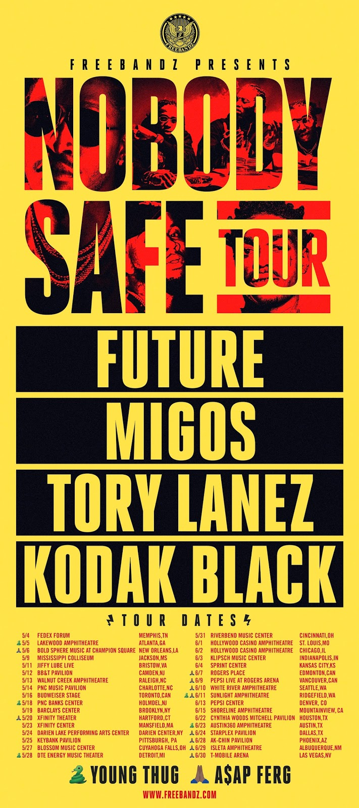 "Future ""2017 Nobody Safe Tour"" / www.hiphopondeck.com"