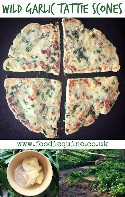 www.foodiequine.co.uk Wild Garlic Tattie Scones. Nothing tastes as good as free food! In the Springtime go out foraging in a woodland, field or riverbank near you and fry up a batch of my Wild Garlic Tattie Scones. Ideal served with soup or as part of a full Scottish Breakfast.