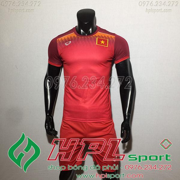 Áo bóng đá đội tuyển Việt Nam training đỏ 2019