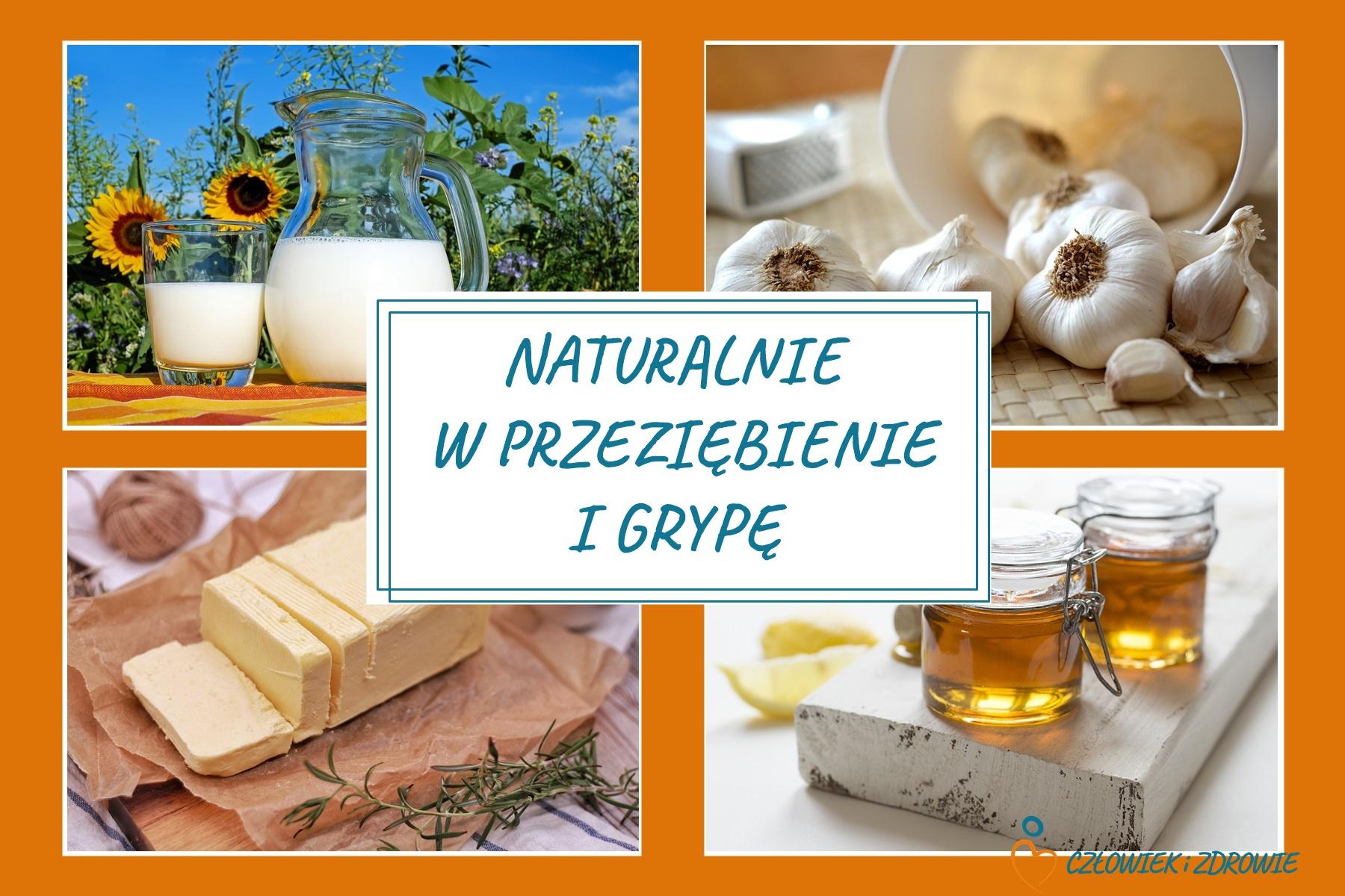 mleko, czosnek, masło i miód - mikstura na grypę