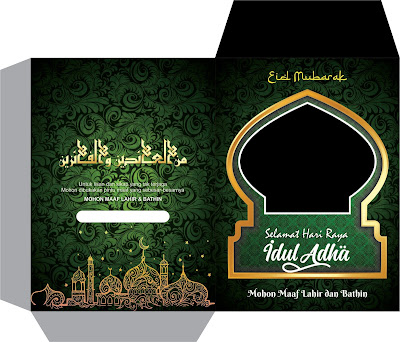 Gratis Link Download Desain Amplop Idul Adha 2021 M/1442 H, PSD, PNG, CDR dan Vector