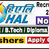 HAL Recruitment 2019 - Apply Online for 826 Apprentice Posts