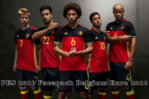 PES 2016 Belgium Facepack Euro 2016