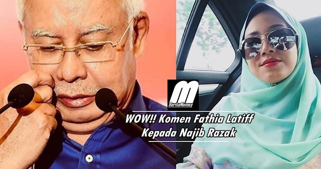 Tak Sangka! Komen Fathia Latiff Kepada Bekas Perdana Menteri, Najib Razak