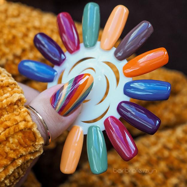 jesienne kolory na paznokcie