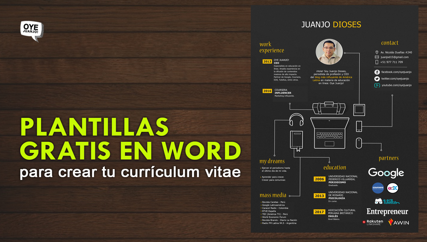 plantillas curriculum word
