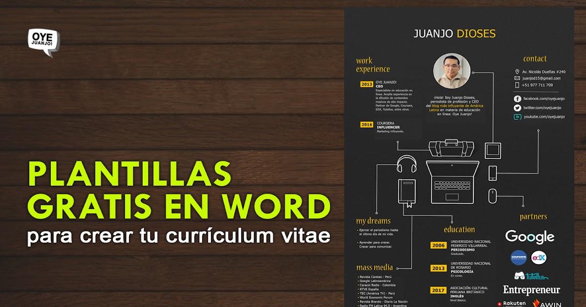300 Plantillas Editables En Word Para Elaborar Tu Curriculum Oye