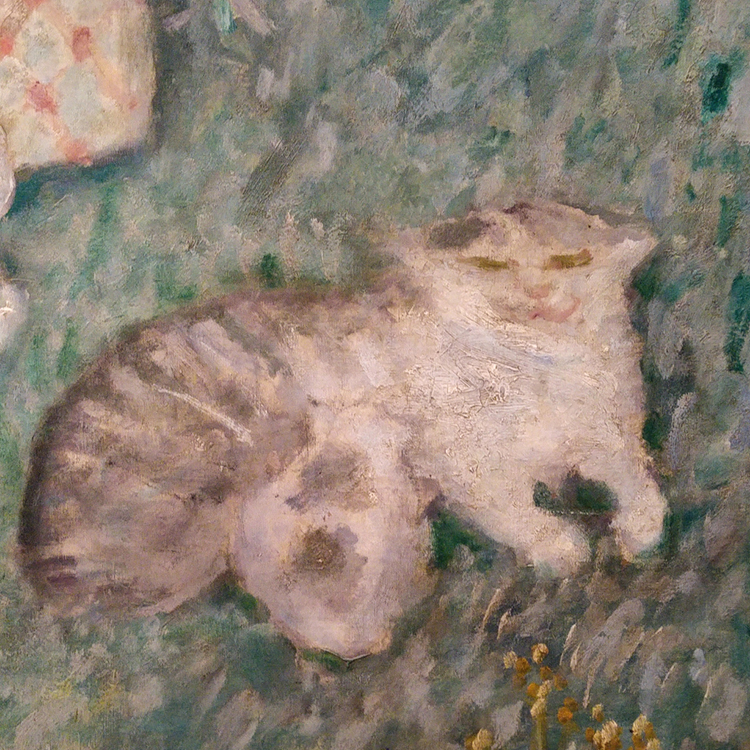 tiger kitty detail from pierre bonnard painting