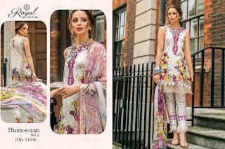 Royal Designer Husn e Zan vol 1 pakistani Suits catalog wholesaler