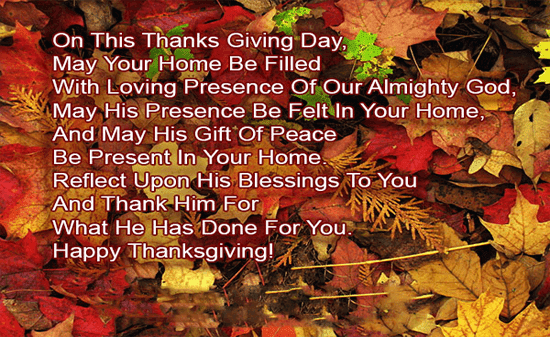Thanksgiving Wishes Wording 2018