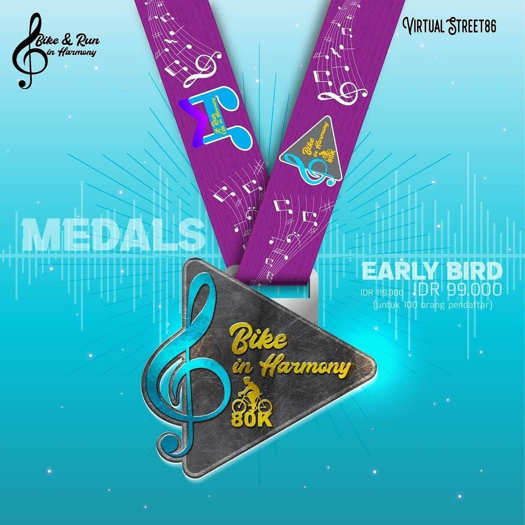 Ride Medal � Virtual Run & Ride in Harmony • 2021
