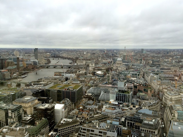view over London from The Sky Garden