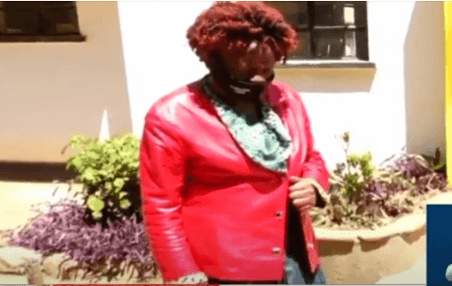Tina Mulinge who allegedly acquired a newborn baby from Winnie Rose Mumbe