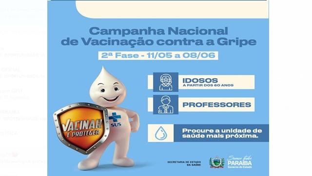 Segunda etapa da campanha de vacinação contra gripe começa nesta terça (11) para idosos e professores