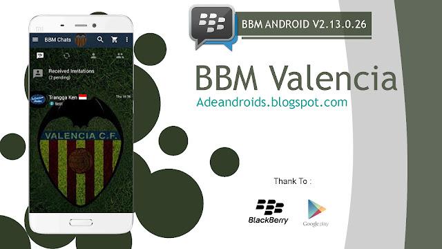 BBM MOD Valencia C.F V2.13.0.26 - BBM For Android Tema Sepak Bola