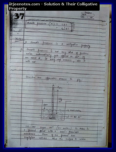 Solution and Their Colligative Property Notes IITJEE5